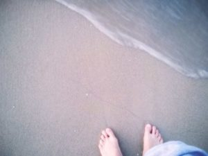 bờ cát trắng