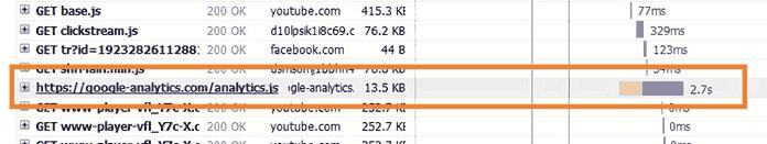google analytics tải chậm
