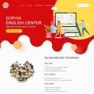 Sophia English Center Website 2