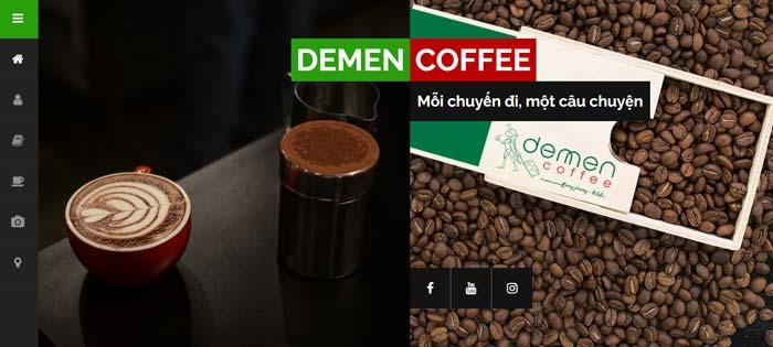 Trang Web Demen Coffee 1