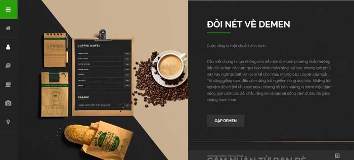 Trang Web Demen Coffee 2