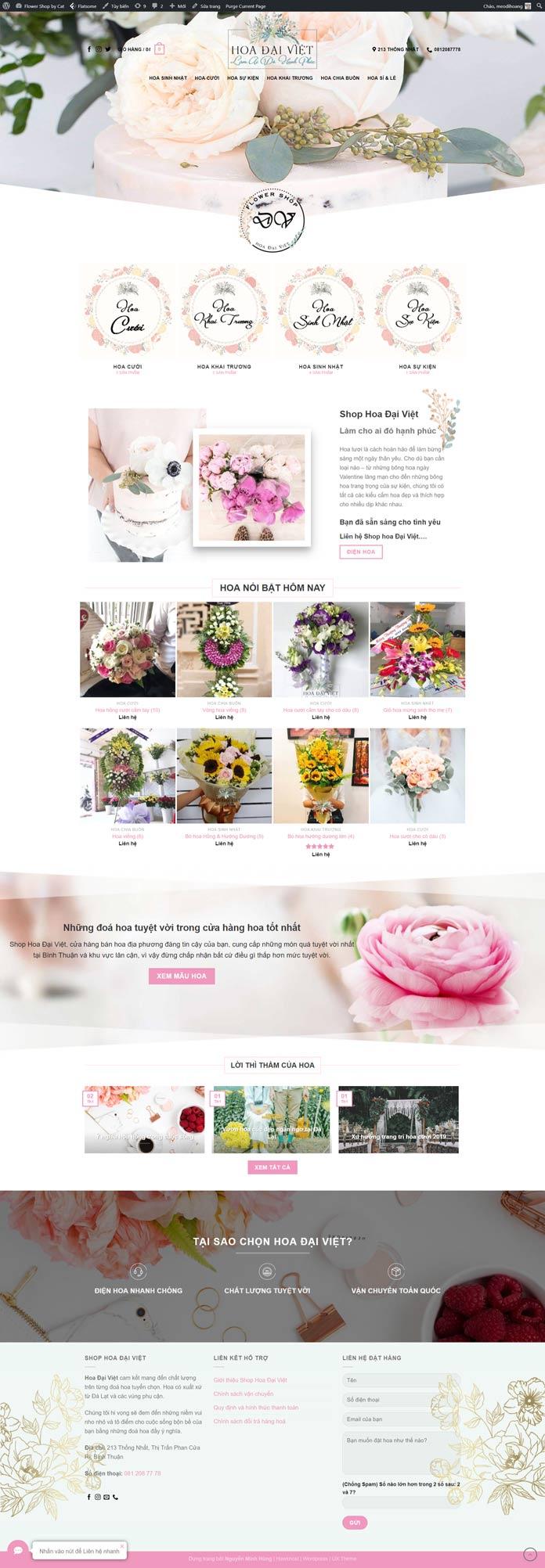 Mau Website Ban Hoa Dep
