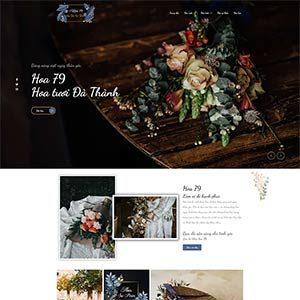 Mau Website Ban Hoa Wordpres